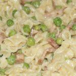 kuchennie: makaronowa patelnia z groszkiem i boczkiem w roli głównej